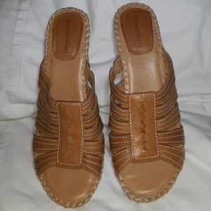 Naturalizer Strappy Tan Leather Sandals Size 10